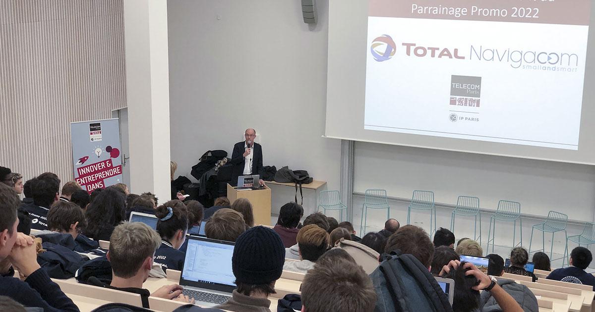 Lancement du parrainage de la promo 2022 avec Total et Navigacom