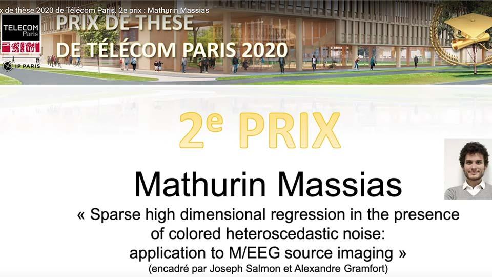 Prix de thèse 2 : Mathurin Massias