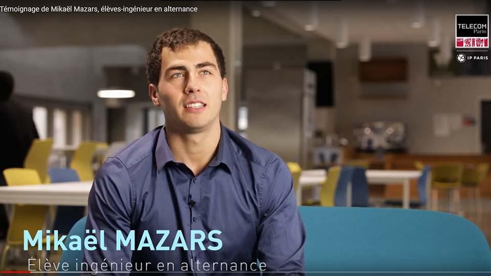 Mikaël Mazars, éléève-ingénieur en alternance